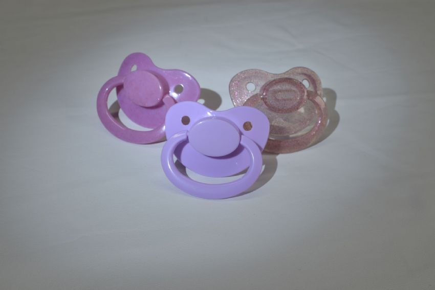 Glitter shades of mix & match adult sized large shield/teat pacifier,